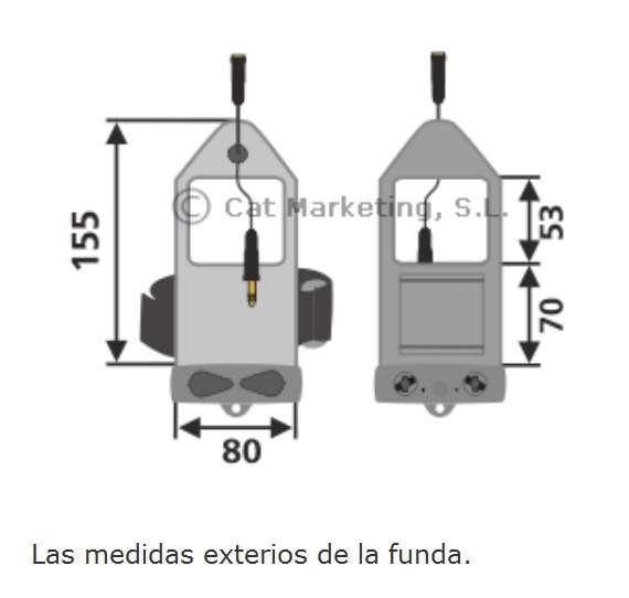 Brazalete Estanco para iPod iPhone y mp3 518 medidas exteriores AQUAPAC 1