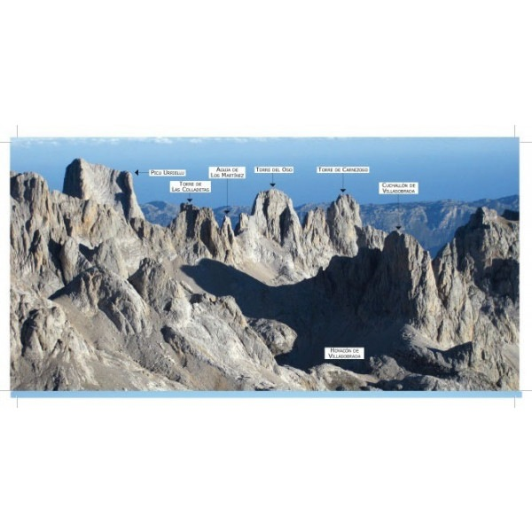 Picos de Europa. Rutas Circulares y Anillos. panoramica ED CORDILLERA CANTABRICA