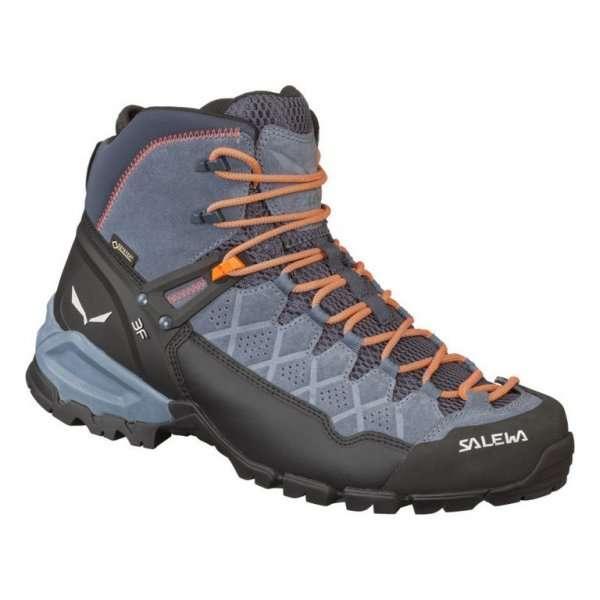 salewa ms alp trainer mid gtx ombre blue fluo orange